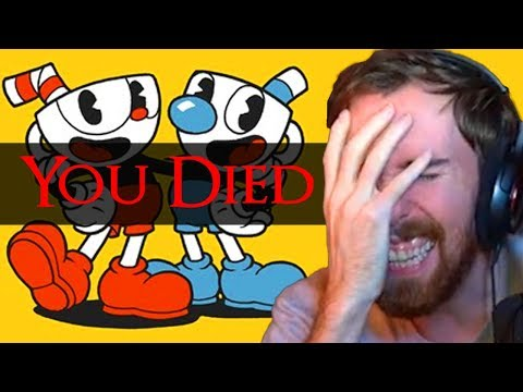 Asmongold Begins To LOSE IT Playing Cuphead for the FIRST TIME