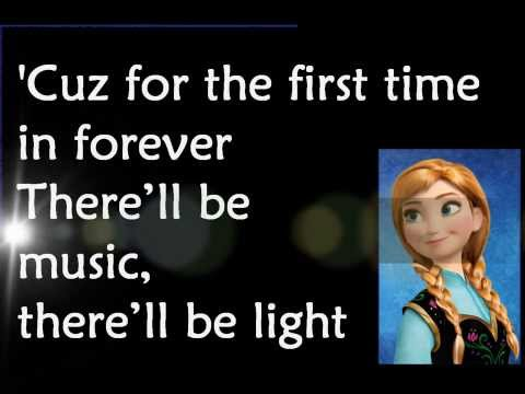 For the First Time in Forever - from FROZEN movie [with lyrics]