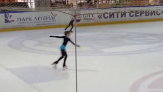 Тренировка фигурное катание Одиночное скольжение на льду