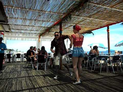 Screamin 2011.Beach Bar Record Hop.Willie The Kid Storm.Pineda de Mar Spain.
