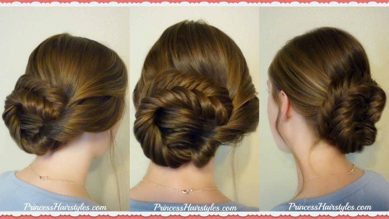 fishtail updo hairstyle parties