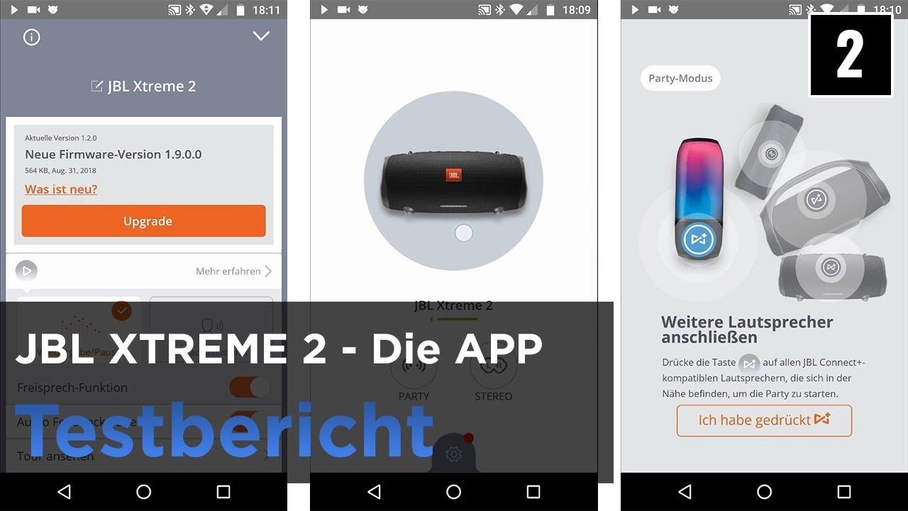 JBL XTREME 2 im Test - die App