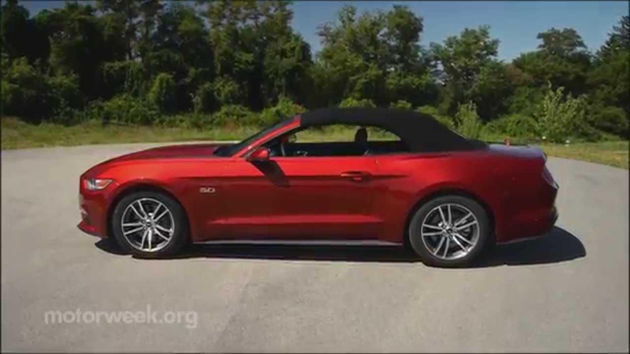 Motorweek road test 2015 ford mustang gt convertible youtube
