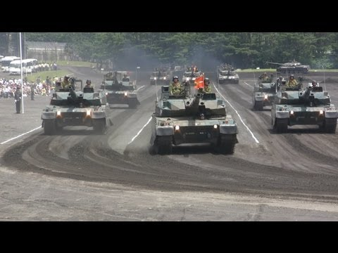Japanese Military Parade 陸上自衛隊富士学校観閲行進2013