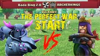 Clash of Clans | Bada Bing 2.0 vs ARCHERKINGS | The Perfect Clan War Start | HD