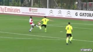 Highlights of Arsenal's 16-year-old Romanian starlet Vlad Dragomir shining for the U18s