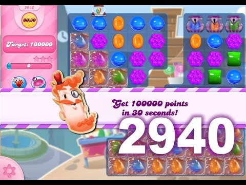 Candy Crush Saga Level 2940 (3 stars, No boosters)