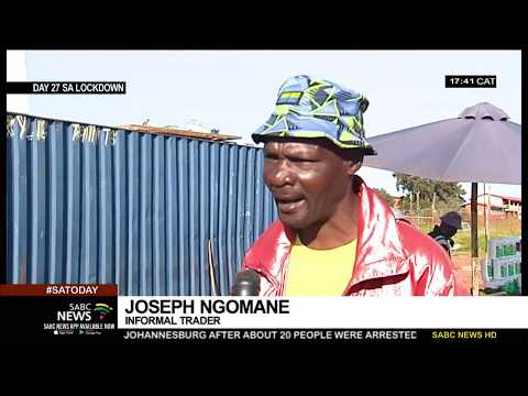 SA Lockdown | Joburg informal traders with permits accuse police of victimisation