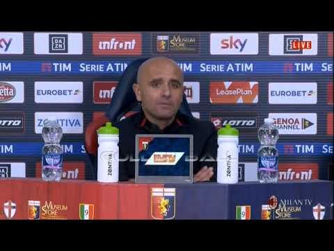 La domanda di Simone Matrone a mister Riccio (vice Gattuso) POST Genoa-Milan 0-2