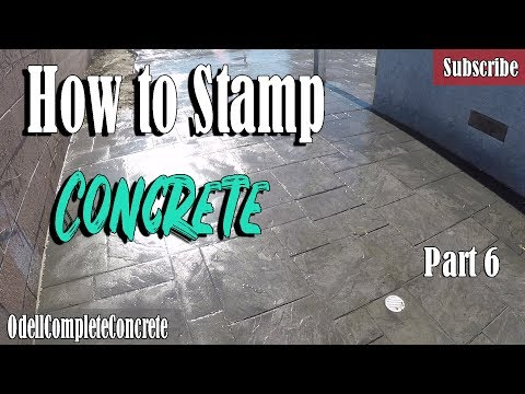 How to Stamp and Pour a Colored Concrete Patio Part 6