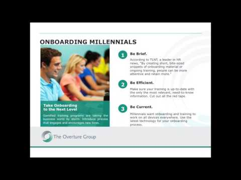 The Overture Group Webinar,  Attracting and Retaining Millennial Talent