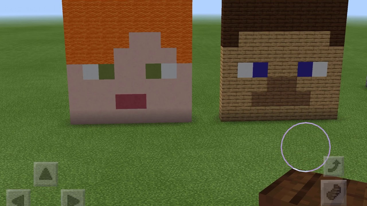 How To Build Steve And Alex Face In Minecraft And All The Blocks I Like Youtube
