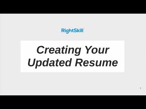 Creating Your Updated Resume