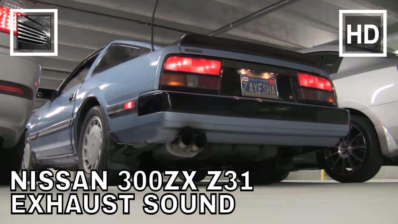 nissan 300zx z31 exhaust sound youtube. Black Bedroom Furniture Sets. Home Design Ideas