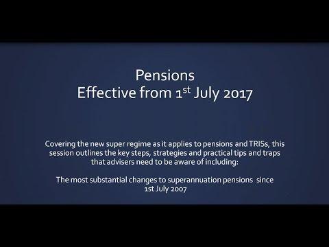 Pensions Strategies post 1 July 2017