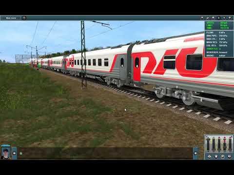 Поезд Волгоград-1 - Москва (Михайлов - Узуново) + смена локомотива