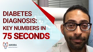 Diabetes Diagnosis: Key numbers in 75 seconds... #aroraBites
