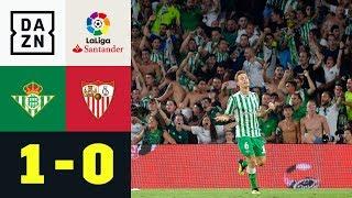 Real-Betis-Legende Joaquin entscheidet Sevilla-Derby: Betis Sevilla - FC Sevilla 1:0 | DAZN | LaLiga