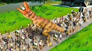 RELEASING A DINOSAUR ON 1000 GUESTS!? - Jurassic World Evolution