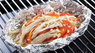 (楊桃美食網-3分鐘學做菜) 烤奶油金針菇 HD