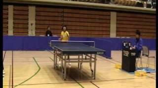全日本卓球選手権大会 カデットの部(13歳以下女子)準々決勝 平成23年11...