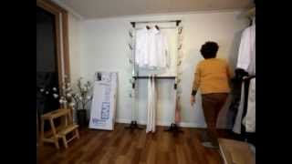 Diy Pants Coats Hats Handbags Rack, Floor Standing, Made In Korea