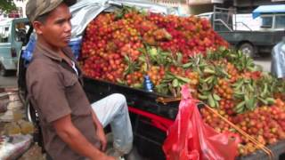 Jakarta Street Food 250 Hairy Fruit With Juicy Content  Rambutan.