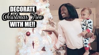 RIBBON ON CHRISTMAS TREE TUTORIAL | Rose Gold Christmas Decor and more!