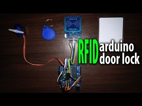 How to make arduino RFID door lock - video 4K