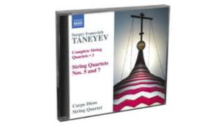 Taneyev - Complete String Quartets, Vol. 3  Naxos  1CD  8573010