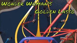 POV Wonder Woman Golden Lasso Coaster NEW 2018 Six Flags Fiesta Texas RMC front seat
