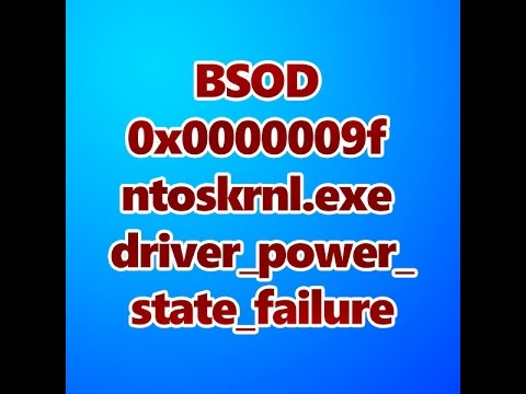 ntoskrnl exe bsod windows 10 driver_power_state_failure