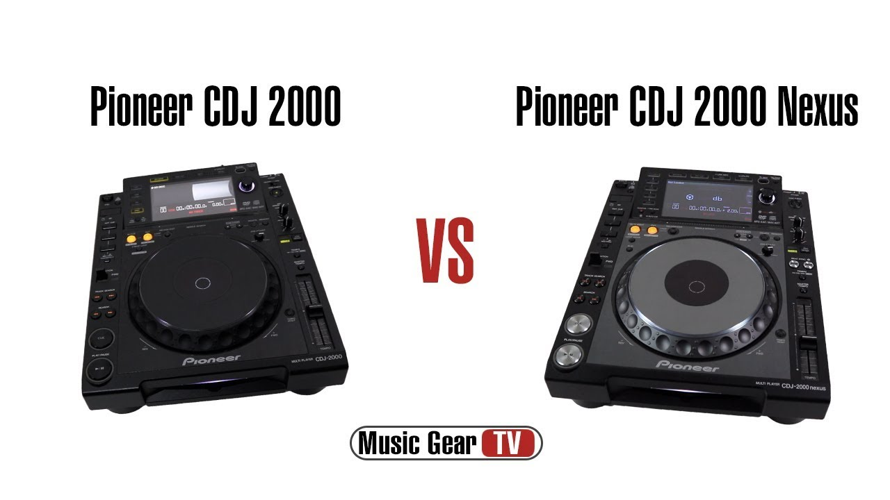 pioneer cdj 2000 vs cdj 2000 nexus youtube. Black Bedroom Furniture Sets. Home Design Ideas