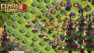 Clash of Clans X-Mas Tree Base! Build A New Christmas Update Base!