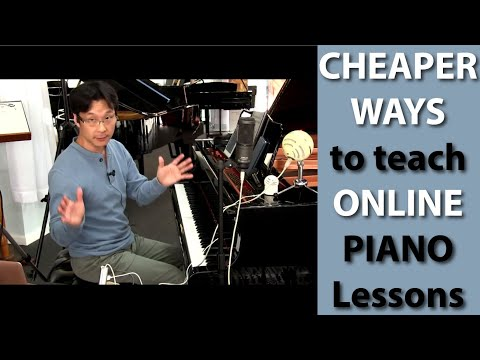 Cheaper ways to teach online piano lessons | Cunningham Piano