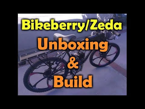PBK0038 - Bikeberry/'ZEDA' BBR Tuning 26' motorized bicycle - unboxing and build