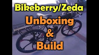 "PBK0038 - Bikeberry/ZEDA BBR Tuning 26"" motorized bicycle - unboxing and build"