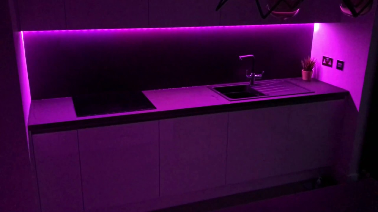 Kitchen Philips Hue Light Strip Changing Color