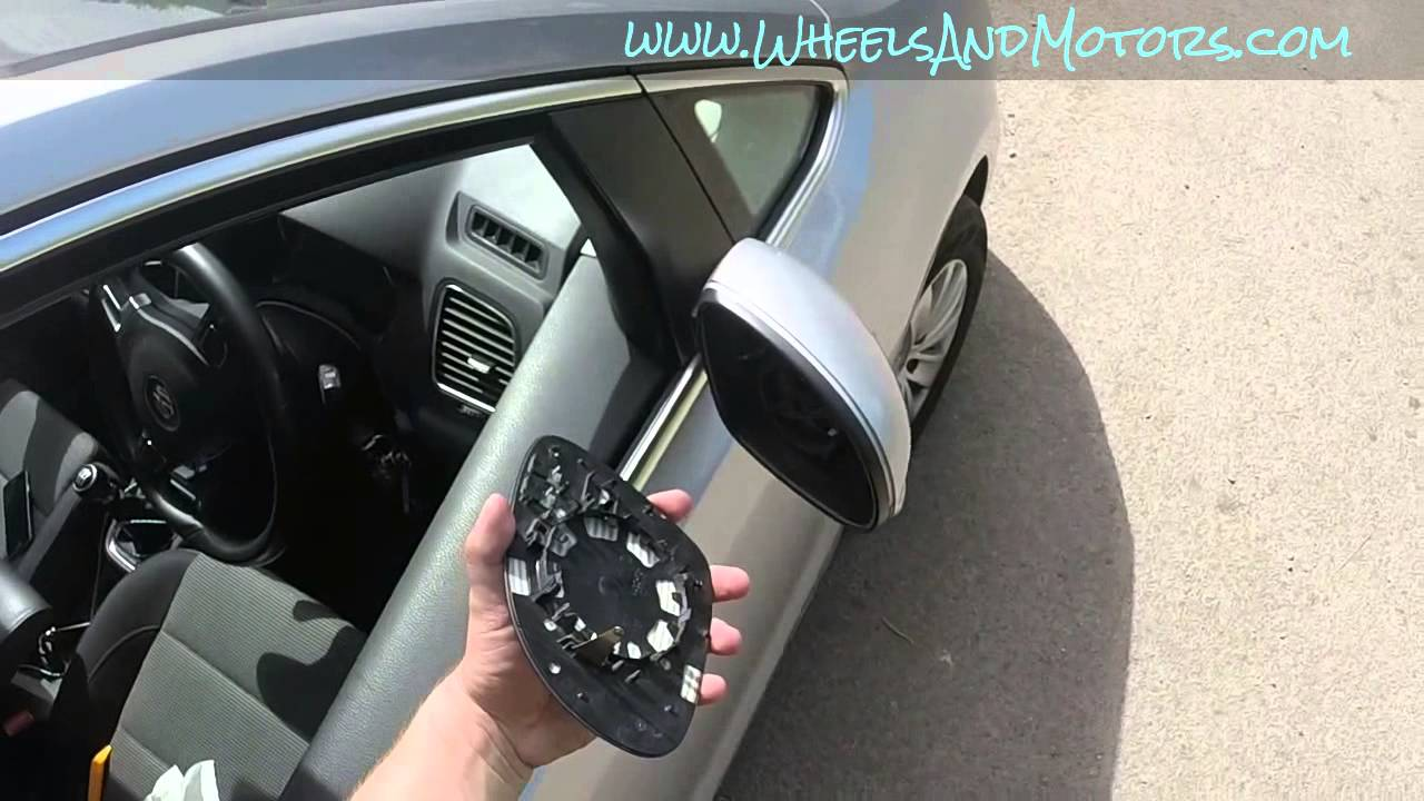 How To Replace Heated Door Mirror Wing Mirror Glass Vw