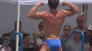 Teen Bodybuilder Daniel Winder at Muscle Beach on July 4, 2013
