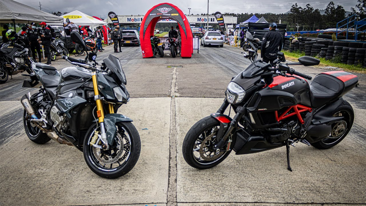 S1000r VS Ducati DIAVEL Drag Race