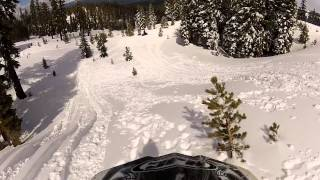 Snowmobiling Iron Mountain, California Amador County Sierra Nevadas - Part 6