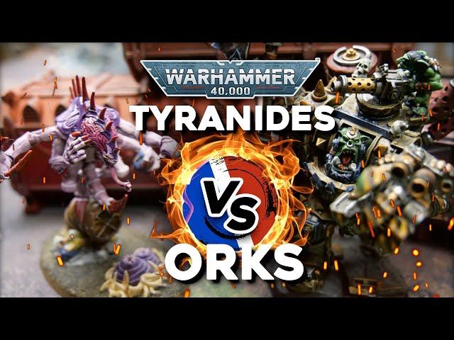 RAPPORT DE BATAILLE WARHAMMER 40.000- Tyranides VS Orks (Nouveau format vidéo)