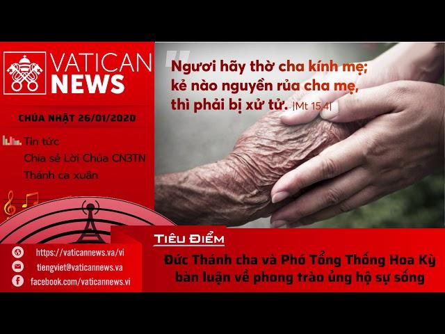 Vatican News Tiếng Việt 26.01.2020 (Mồng Hai Tết)
