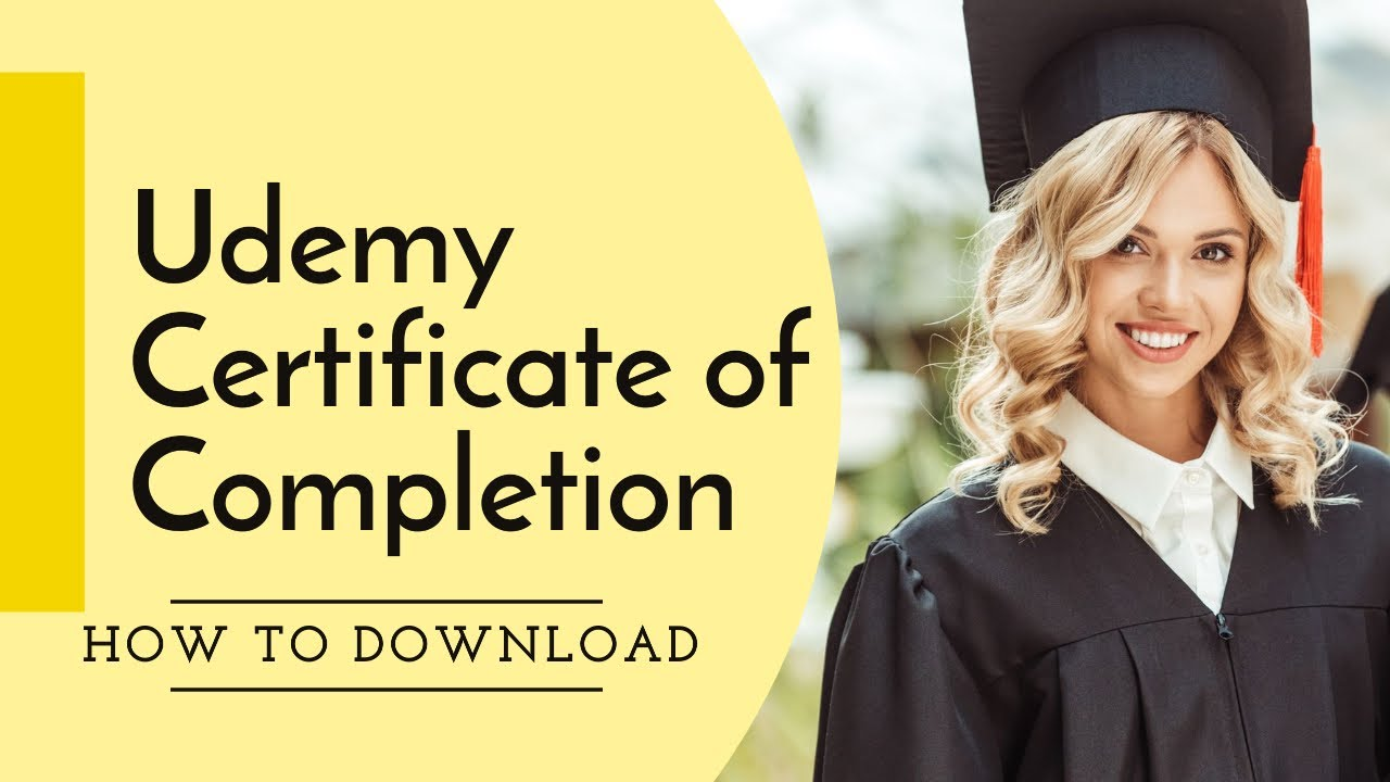 Udemy Certificate Of Completion Youtube