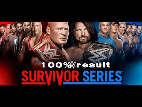 WWE Survivor Series 2017 Match Card 100%...
