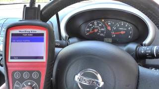 Nissan Micra Airbag Fault Code & Warning Light Reset B1129 Autel MD802 by  Driver 81 Porsche