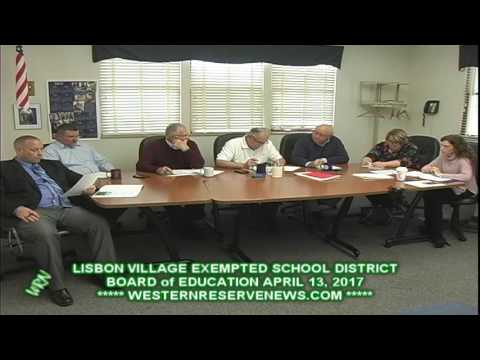 LISBON EXEMPTED SCHOOLS APRIL 2017  BOARD OF EDUCATION MEETING