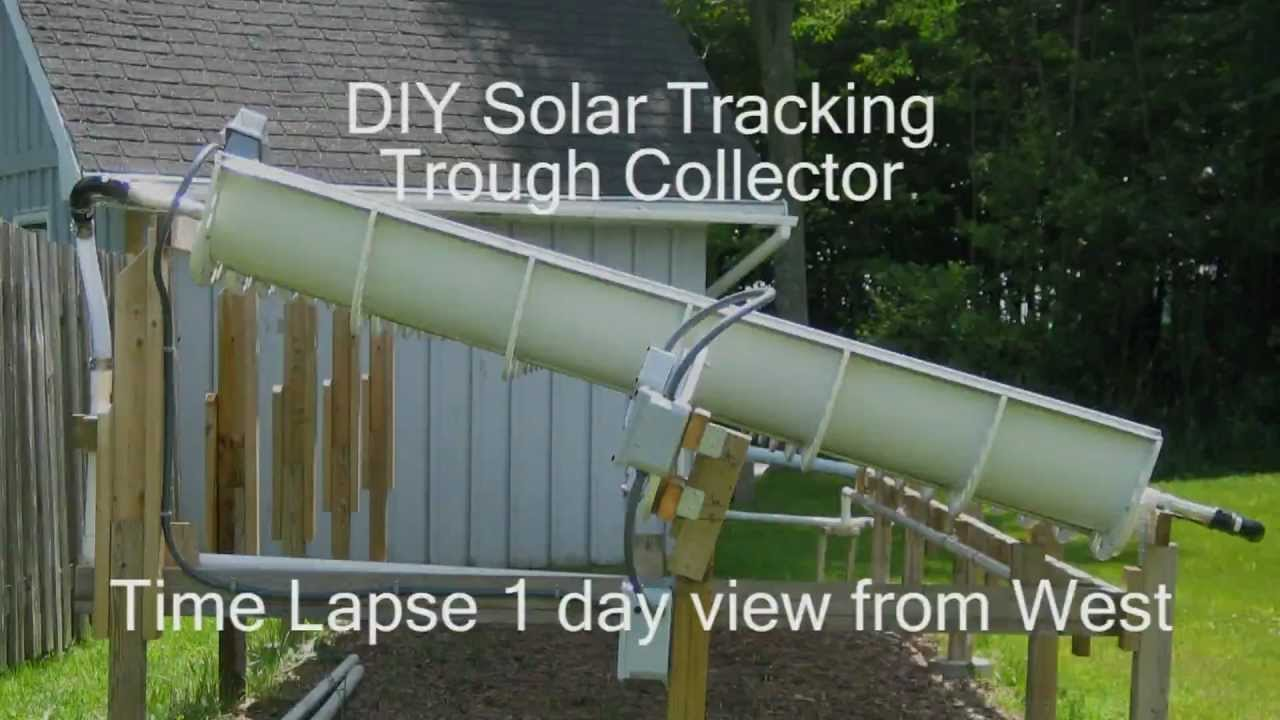 Diy Tracking Parabolic Solar Concentrating Trough Youtube
