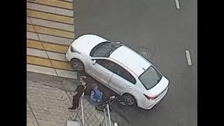 велосипед врезался в машину